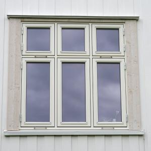 Nytt vindu, ferdig belistet utvendig (Fjordglas)