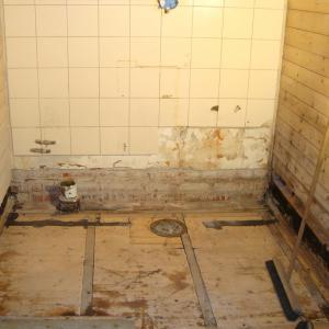 Riving av gammelt bad
