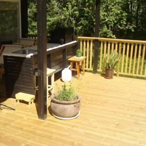 Ny terrasse sett ovenfra.