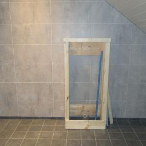 Bygging av kasse til vegghengt WC.
