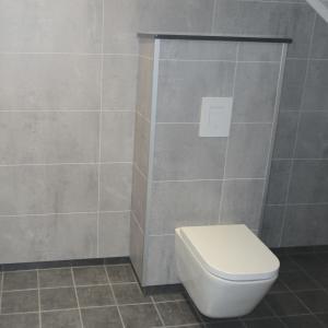 Vegghengt WC ferdig montert.